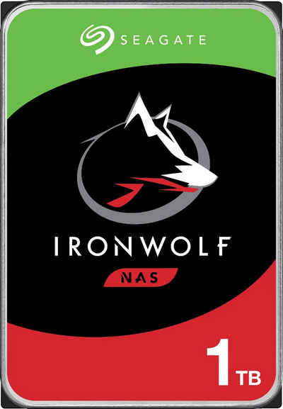 """Seagate »IronWolf« HDD-NAS-Festplatte (1 TB) 3,5"""" 180 MB/S Lesegeschwindigkeit, Bulk, inkl. 3 Jahre Rescue Data Recovery Services)"""