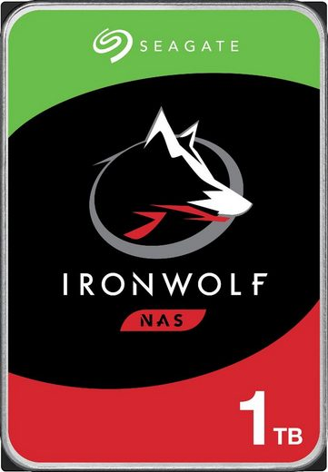 """Seagate »IronWolf« HDD-NAS-Festplatte 3,5"""" (1 TB) 180 MB/S Lesegeschwindigkeit, Bulk, inkl. 3 Jahre Rescue Data Recovery Services)"""