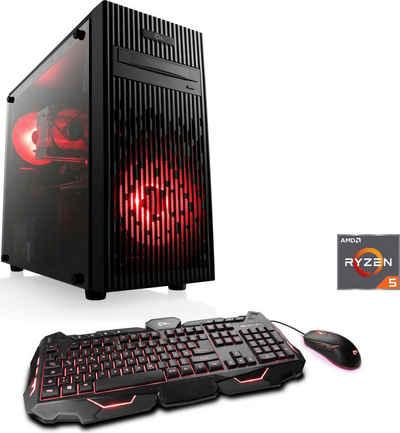 CSL Sprint V8180 Windows 10 Gaming-PC (AMD Ryzen 5 Ryzen 5 3600, 16 GB RAM, 1000 GB HDD, 240 GB SSD)