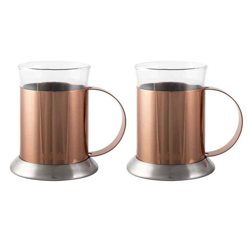 Neuetischkultur Tasse »Kupferglastassen 2er Set Kupfer«, Edelstahl
