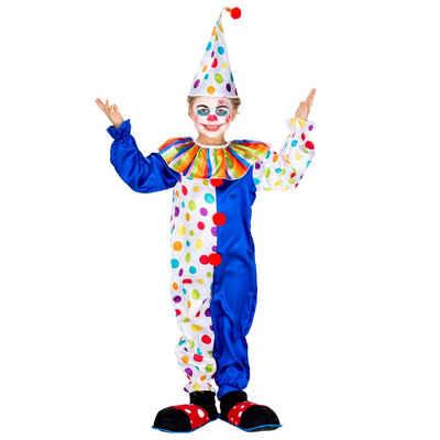 tectake Clown-Kostüm »Kinder - Teenkostüm Clown Jux«