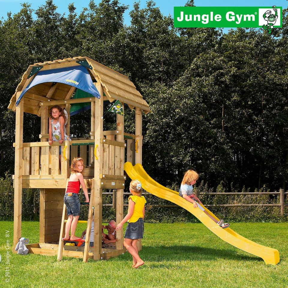 jungle gym spielturm barn rutsche gelb kaufen otto. Black Bedroom Furniture Sets. Home Design Ideas