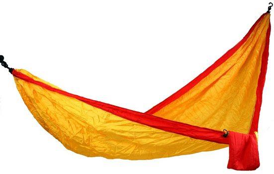 Guru-Shop Hängematte »Reisehängematten aus Fallschirmstoff - orange«