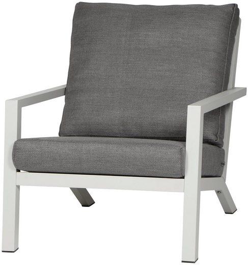 Siena Garden Loungesessel »Loungesessel Belia« (1-tlg), Aluminium, inkl. Auflagen