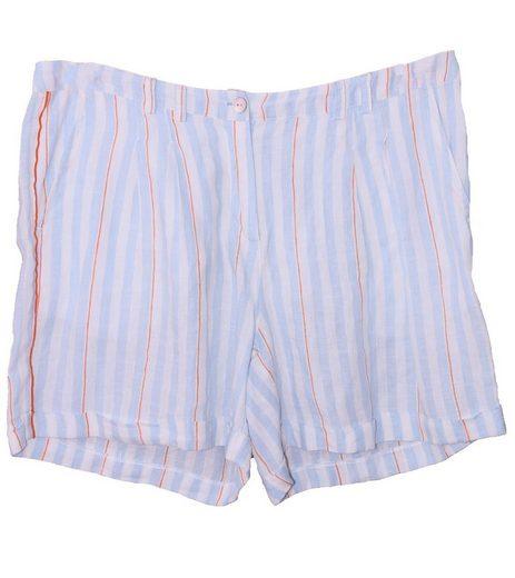 Malvin Shorts »MALVIN Bermuda-Shorts luftige Damen Bermuda mit Streifen Leinen Sommer-Hose Blau«
