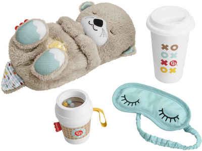 Fisher-Price® Einschlafhilfe »Schlummer-Otter Geschenkset«, (Set, 4-tlg), Otter mit Sanftem Licht; Inklusive Schlafmaske + Becher für die Eltern sowie Beißhilfe für das Baby