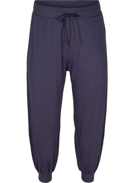 Hosen - Active by ZIZZI Stoffhose Große Größen Damen Hose aus Ripp mit lockerer Passform › blau  - Onlineshop OTTO