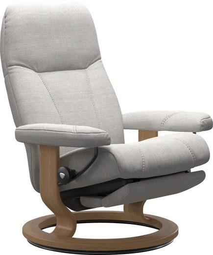 Stressless® Relaxsessel »Consul«, mit Classic Base und Power™, elektrisch verstellbar, optional 2-motorisch, Größe M & L, Gestell Eiche