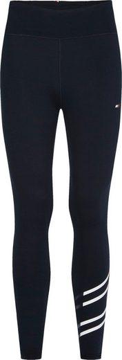 Tommy Hilfiger Sport 7/8-Leggings »RW FLAG GRAPHIC LEGGING« mit kontrastfarbenen Streifen in den typischen Tommy Farben