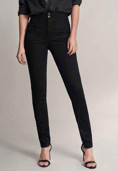 Salsa Slim-fit-Jeans »Diva« Slim Fit, mit Schlankheitseffekt, True black