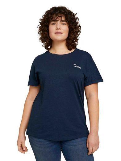 TOM TAILOR MY TRUE ME T-Shirt mit kleiner Stickerei