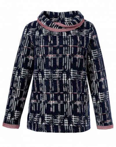 SER Rollkragenpullover »Pullover mit Tulpenkragen im Karo Dessin, 40204, auch in großen Größen«