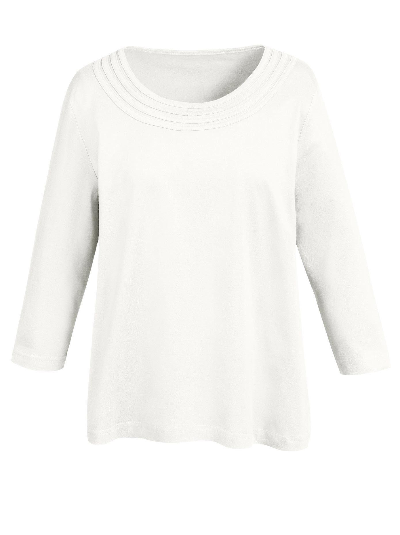 Classic Basics 3/4-Arm-Shirt, Shirt mit dekorativen Paspeln