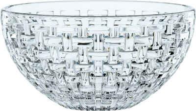 Nachtmann Salatschüssel »Bossa Nova«, Kristallglas, (2-tlg), (1x Schüssel, 1x Silikondeckel), Ø 23 cm