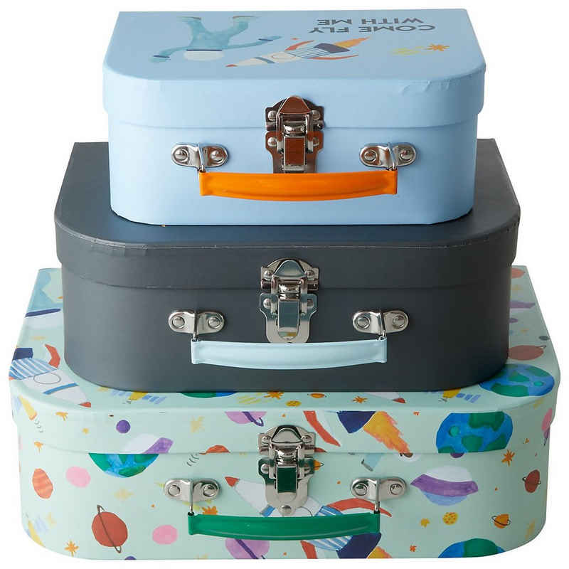 """rice Aufbewahrungsbox »3-tlg. Aufbewahrungs-Koffer Set """"Jungle Animals"""",«"""