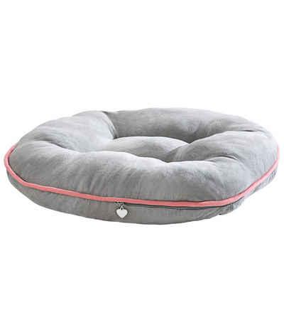 Dehner Tier-Beschäftigungsspielzeug »Premium Lovely Katzenkissen, Fleece, grau«, Fleece