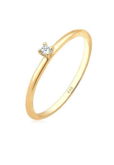 Diamore Diamantring »Verlobung Solitär Diamant (0.015 ct) 585 Gelbgold«