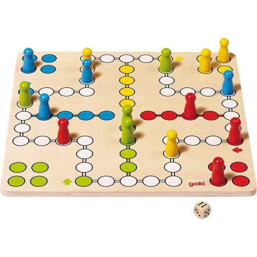 goki Spiel, »Ludo aus Holz, 28 x 28 cm«