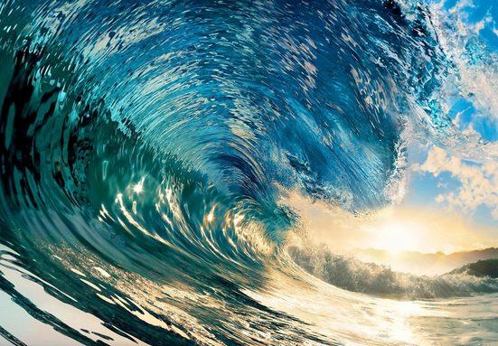 Vliestapete »The Perfect Wave«, 366x254cm, 8-teilig