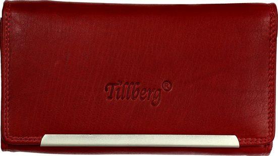 DrachenLeder Geldbörse »OPR702X DrachenLeder RFID Blocker Portemonnaie« (Portemonnaie), Jugend, Damen Portemonnaie Echtleder, rot