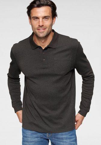 Daniel Hechter Langarm-Poloshirt su Brusttasche