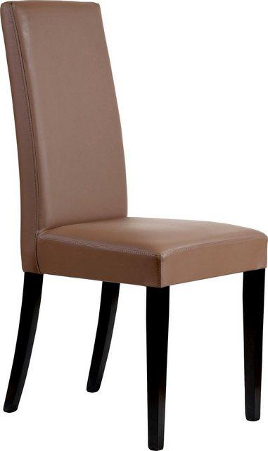 Stühle und Bänke - Home affaire Polsterstuhl »Java« (Set, 2 Stück), Gestell aus Massivholz, im 2er Set, mit naturfarbenen oder dunklen Massivholzbeinen  - Onlineshop OTTO
