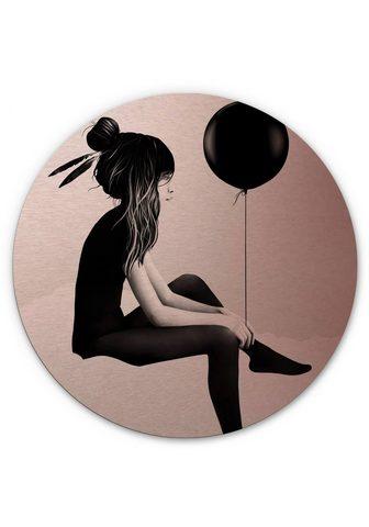 Wall-Art Metallbild »Metallschild Luftballon Wa...
