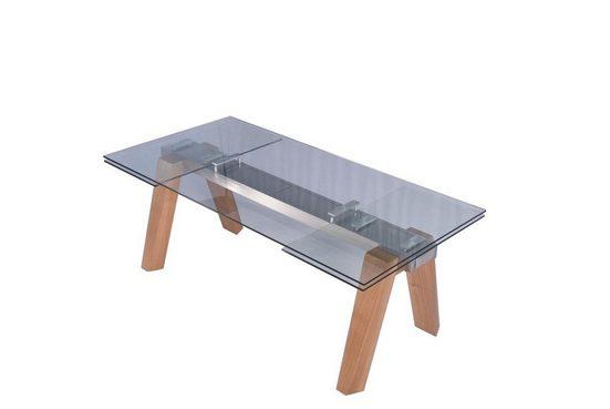 KAWOLA Esstisch »MOUNTY«, aus Glas 200x100 cm ausziehbar