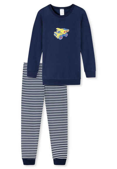 Sale SCHIESSER Jungen Schlafanzug shorty Pyjama Gr.128 NEU ehemaliger UVP 25,95€