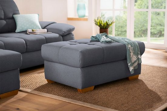 """Home affaire Hockerbank »Lotus Home Luxus«, passend zu """"Lotus Home Luxus"""", bis 140kg belastbar,wahlweise mit Stauraum und Aqua Clean-Bezug zur leichten Reinigung mit Wasser"""