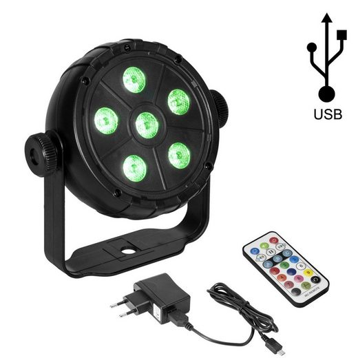EUROLITE Discolicht »USB Party Spot - 6 RGB LED - Musiksteuerung + Automatik - Fernbedienung«