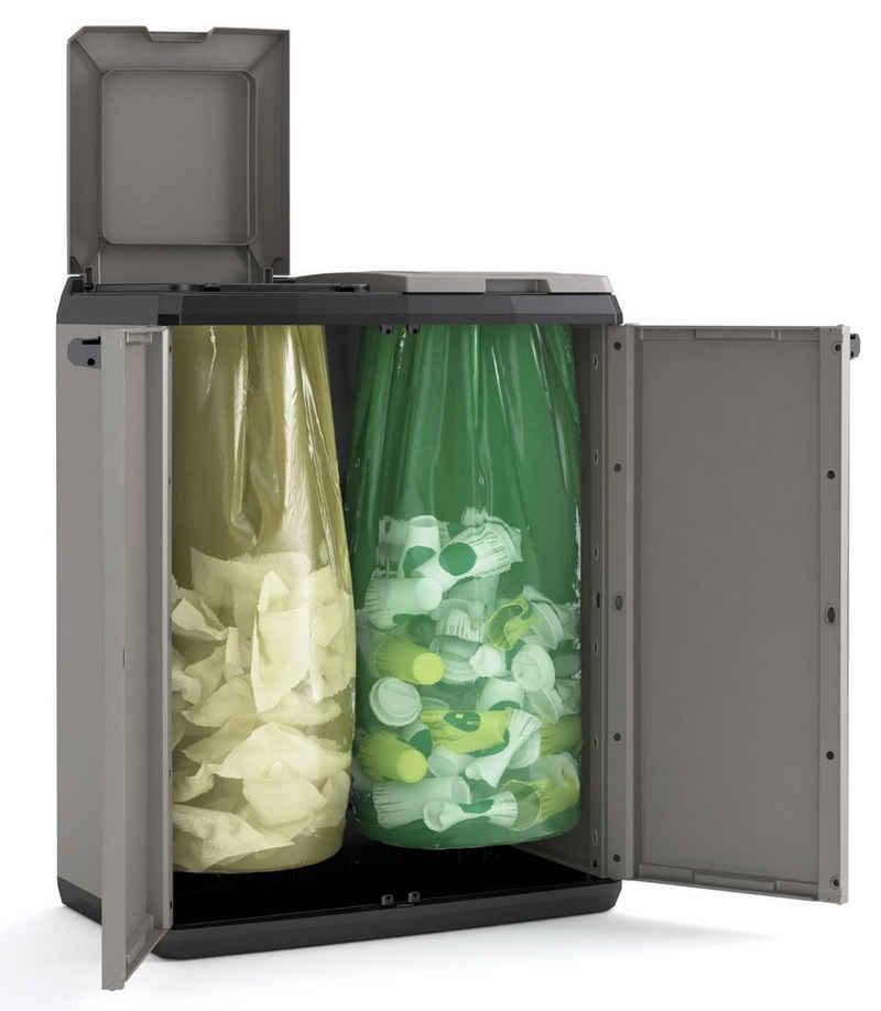 """Keter Mehrzweckschrank »Keter Recyclingschrank """"SPLIT"""" Basic, Müllsortierung, Mülleimer - Made in Europe«"""