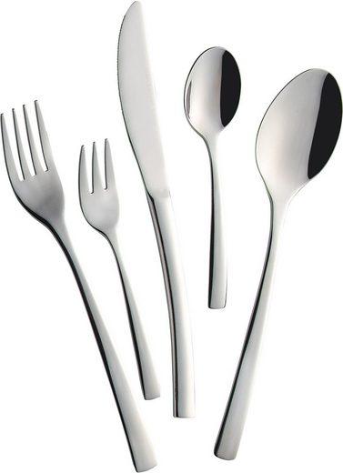 Mulex Besteck-Set »Vermont«, Chromnickel-Stahl 18/10, schlichtes Design, stimmige Proportionen