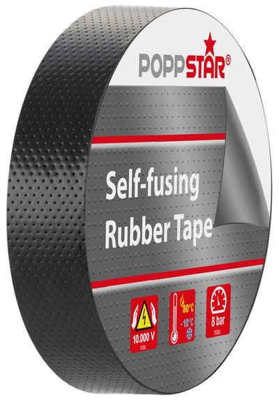 Poppstar Isolierband (1-St) 5m Universal Isolierband selbstverschweißend 19mm breit 0,76mm stark, schwarz