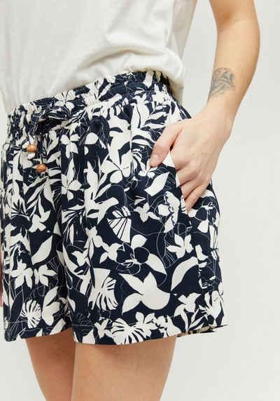 MAZINE Shorts »Palm« kurze Hose mit Seitentaschen & Perlen-Details