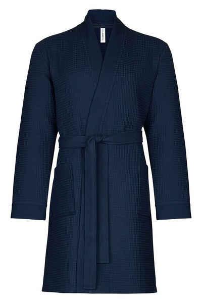Bademantel »Spa Thalasso«, Taubert, Short Kimono für Herren, kurzer Wellnessmantel, 100 cm, Pique, aus sehr leichtem und saugfähigem Material, ideal auch als Reisebademantel