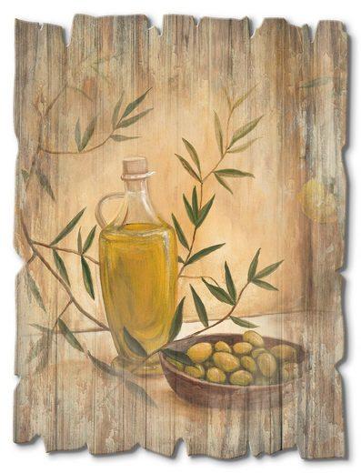 Artland Holzbild »Oliven und Zitronen«, Arrangements (1 Stück)