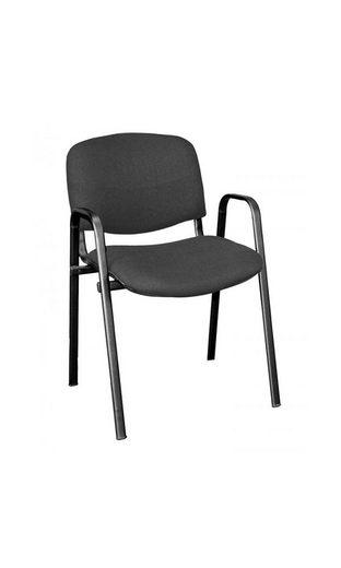 Lüllmann Polsterstuhl »Besucherstuhl mit Armlehnen Stapelstuhl gepolstert stapelbar«, Sitz- und Rückenlehne ergonomisch gepolstert