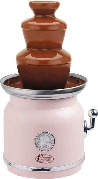 bestron Schokoladenbrunnen Sweet Dreams, im Retro-Design, mit 3 Etagen, 90 Watt, Farbe: Rosa