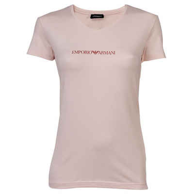 Emporio Armani T-Shirt »Damen T-Shirt - V-Neck, Kurzarm, Loungewear,«
