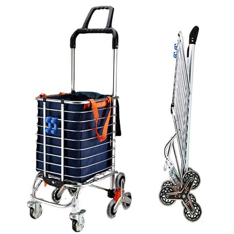 LBLA Einkaufstrolley »Einkaufstrolley Treppensteiger Klappbar bis zur 80kg Abnehmbare Tasche Schwarz, Handwagen mit Rollen Einkaufswagen Einkaufshilfe Multifunktional«