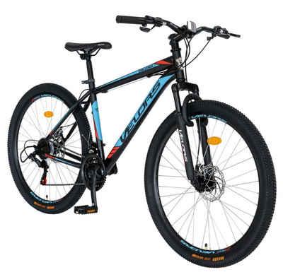 Velors Mountainbike »Fahrrad Herren 29 Zoll Mountainbike MTB, Shimano Tourney TZ500D, Stahl Rahmen, mechanischen Scheibenbremse«, 21 Gang Shimano, Kettenschaltung, (Fitness Sport Outdoor)