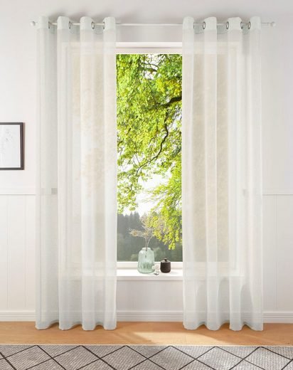 Gardine »REGINA«, my home, Ösen (2 Stück), Vorhang, Fertiggardine, transparent
