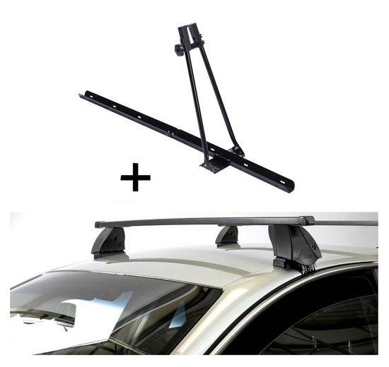 VDP Fahrradträger, Fahrradträger ORION + Dachträger K1 MEDIUM kompatibel mit Seat Leon II (1P) (4Türer) 09-13