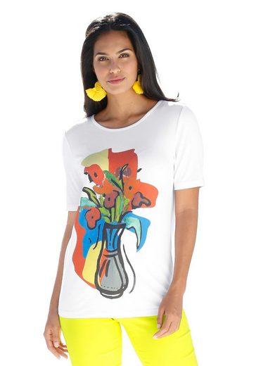 Amy Vermont Print-Shirt mit platziertem Motiv