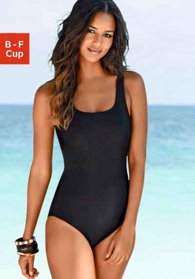 LASCANA Badeanzug, mit gekreuzten Bändern im Rücken und Shaping-Effekt