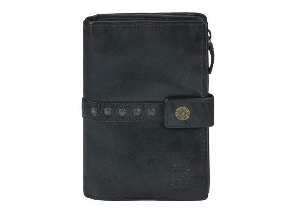 Bear Design Geldbörse »Cow Lavato«, Damenbörse, Portemonnaie, knautschiges Leder, 8 Kartenfächer