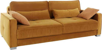 Mr. Couch Schlafsofa »Corey«, 5 Jahre Hersteller-Garantie auf Kaltschaumpolsterung, Inklusive Bettfunktion, Nachhaltigkeit, Exklusivkollektion