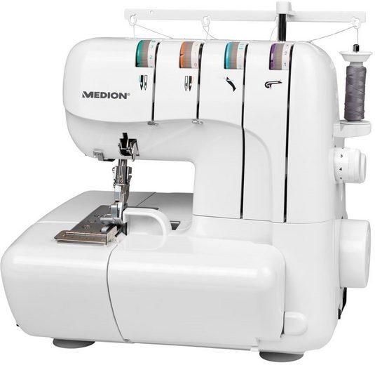 Medion® Overlock-Nähmaschine MD 18030, Nähen mit 3 oder 4 Fäden gleichzeitig