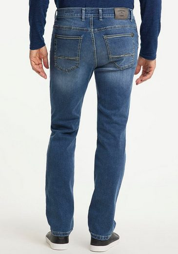 Pioneer Authentic Jeans Straight-Jeans »Rando« Dicke Nähte